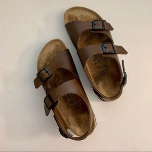 Birkenstock Birki's Brown Leather Sandals 9